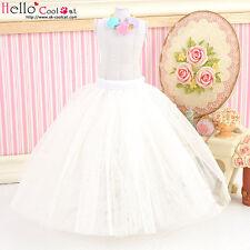 ☆╮Cool Cat╭☆124.【PS-7】Blythe/Pullip Long Tulle Ball Skirt # White