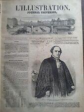 L'ILLUSTRATION 1847 N 236  INAUGURATION DU PORTRAIT DE M.HYPPOLYTE GANNERON