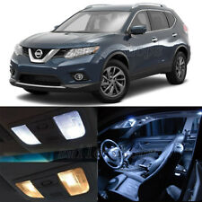 8pcs White LED Interior Bulbs + License Plate Lights Fit For 08-17 Nissan Rouge