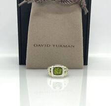David Yurman 925 & 14k Gold Noblesse Ring with Peridot sz 4.5 DY160