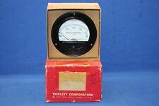 "Triplett 321-T 0-200 Microamperes 3 1/2"" Round Panel Meter"