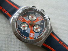 2007  Swatch Watch Irony Chronograph Monster Block YCS110 New