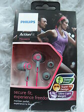 PHILIPS SHQ2300 PK Action Fit Sports Earphone Sweat-Proof Pink Headphones