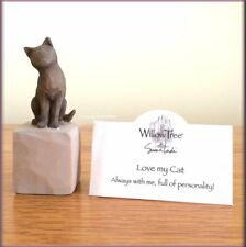 LOVE MY CAT DARK COLOR FIGURE FROM WILLOW TREE® ANGELS FREE U.S. SHIPPING