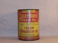 Vintage Riley Bros Cream Separator Oil Can