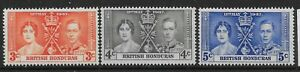 BRITISH HONDURAS SG147/9 1937 CORONATION SET MTD MINT