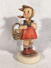 "Goebel Hummel Figurine Tmk6 #96 ""Little Shopper"" 4.75"" Tall"