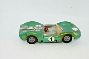 1960's 1970's vintage 1/32 Scale Slot Car Green Ferrari Porsche Can Am Race Car
