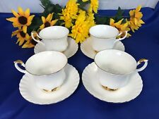 Royal Albert VAL D'OR Cups & Saucers Set Of 4 England EXC!
