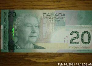 2004 Canada 20 Dollars $20 Bill Note serial # AZK3428158 legal tender Circulated