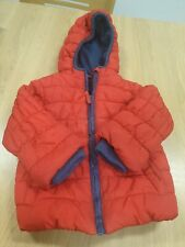 Boys Hooded Coat 12-18 Months Mothercare