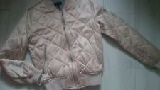 AMAZING TOPSHOP GOLD BOMBER JACKET LADIES SIZE 8 EUR 36 GIRL AGE 13/14 YRS