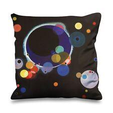 Wassily Kandinsky Several Circles Faux Silk 45cm x 45cm Sofa Cushion