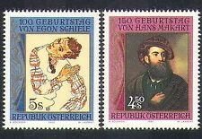 Austria 1990 Makart/Schiele/Portraits/Art/Artists/Paintings/People 2v (n37402)