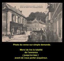 Carte postale CROUY-sur-OURCQ (77), Hôtel et Garage. Voir descriptif détaillé.