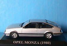 OPEL MONZA 1980 SILVER IXO 1/43 ALTAYA ARGENTE DIE CAST