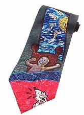 """Beatles Tie """"Good Morning Good Morning"""" 100% Silk 1991 Apple Corps Limited"""