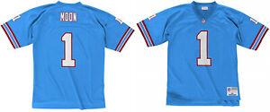 Warren Moon Houston Oilers #1 Mitchell & Ness NFL 1993 Blue Authentic Jersey