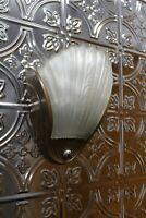 ANTIQUE ART DECO SLIP SHADE WALL SCONCE LIGHT FIXTURE SIGN ALWYN THEATER