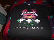 METALLICA T SHIRT MASTER OF PUPPETS W/ SONG TITLES ON BACK SIZE LARGE 1986