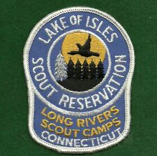 VINTAGE GIRL SCOUT CAMP PATCH - LAKE OF ISLES SCOUT RESERVATION