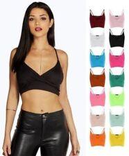 Markenlose Damenblusen, - tops & -shirts im Bauchfreien mit V-Ausschnitt