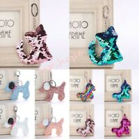 Unicorn/Dog/Cat Mermaid Sequins Keychain Keyring Bag Accessories Handbag Pendant