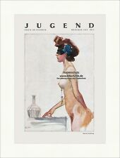 Titelseite der Nummer 5 von 1932 Heinrich Kley Frau Akt Maske Vase Jugend 4792