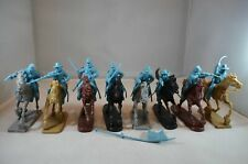 """TSSD10B """"Mounted ACW Confederate Cavalry (Blue)"""" 54mm Plastic Toy Soldiers"""