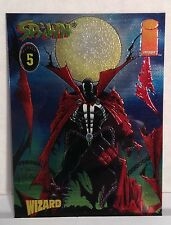 1996 Wizard Magazine Double-Sided Foil Promo Card # 5 Spawn / Al Simmons
