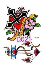 Tatuaggio Temporaneo Tatuaggio Croce Anchor TATTOO TATUAGGIO TEMPORANEO Impermeabile Stile Retrò