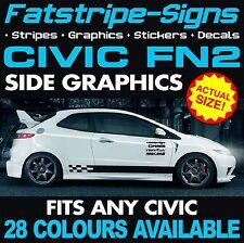 HONDA Civic FN2 Graphics Strisce Decalcomanie Adesivi Type R S VTEC 1.6 2.0 JAP Mugen