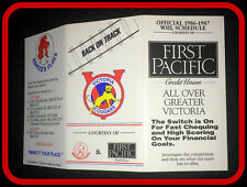 1986-87 DEFUNCT VICTORIA COUGARS HOCKEY POCKET SCHEDULE FREE SHIPPING