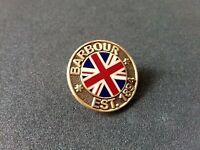 A quality hard enamel limited edition  Barbour EST.1894 union Jack  pin badge