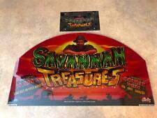 "Bally ""Savannah Treasures"" C810C0330STRS121008  Slot Machine Glass Topper  (X-2)"