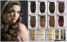220g 300g 12PCS Double Weft Extra Thick Clip In 100%Real Human Hair Extension 8A