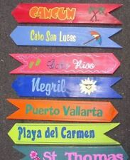 WHOLESALE 12 Custom Arrow Directional Wood Signs Location, Wedding, Camp, Lake