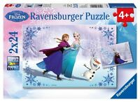 Frozen 'Elsa Anna, Olaf' 2x24 Piece Jigsaw Puzzle Brand New Gift
