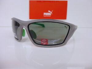 Originale Sonnenbrille PUMA Kunststoff PU 14701P SI polarisierend