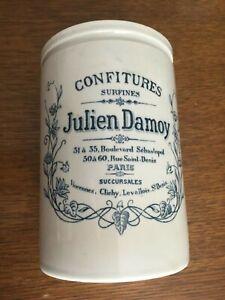 Ancien et rare pot confitures Julien Damoy grès émaillé PARIS