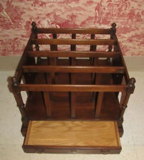 Brandt English Mahogany Magazine Rack and Drawer Ethan Allen Classic Manor Style
