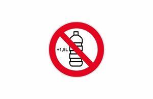 Sticker Signalling Panel Bottle Forbidden Ban