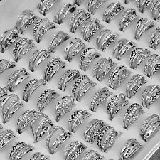 300pcs Wholesale Mixed Lot Jewelry Resale Zirconia Stainless Steel Women's Rings