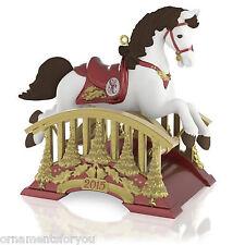 Hallmark 2015 Santa Certified Series Rocking Horse Ornament