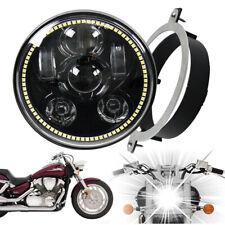 """5 3/4"""" 5.75'' LED Headlight Kit for Honda VTX with Bracket for VTX 1300 & 1800"""