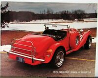 1975 Excalibur Series III Roadster SS Autos Photo Data Specs Sheet Original