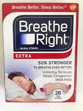 BREATHE RIGHT EXTRA 26 TAN NASAL STRIPS STOP SNORING SLEEP