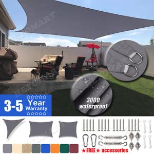 Sun Shade Sail Canopy Rectangle Sand 98% Uv Block Sunshade Backyard Deck Outdoor