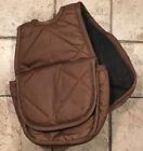 """7"""" X 8"""" Heavy Denier Nylon Durable Pommel Bag W/ 2"""" Gusset Brown"""