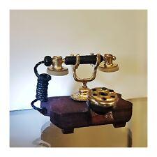 Vintage antico TELEFONO Miniatura arredamento diorama 4 cm
